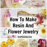 How To Make Resin And Flower Jewelry