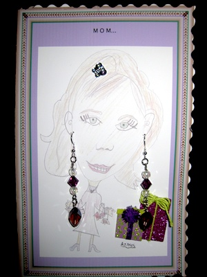 Earring Card Greeting Card And Gift All In One