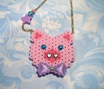 Cute Piggy Head Pendant
