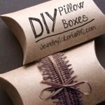 DIY kraft pillow boxes tutorial
