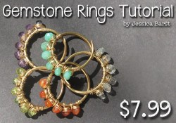 Wire Wrapped Gemstone Rings Tutorial