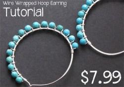 Wire Wrapped Hoop Earring Tutorial
