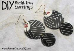 sushi tray earring tutorial
