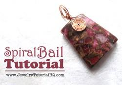 Spiral Bail Pendant - free DIY jewelry making Tutorial {Video}