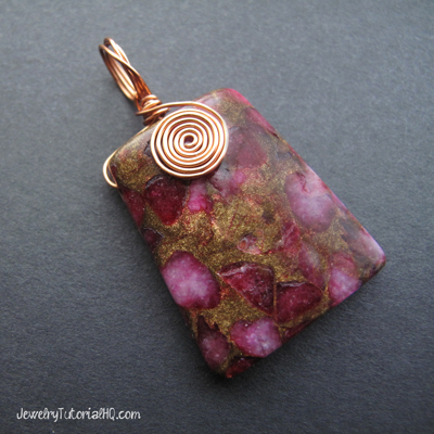 DIY pendant - spiral bail jewelry tutorial