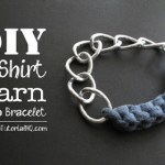 DIY T-Shirt Yarn Chain Bracelets {Video}