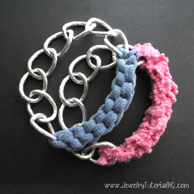 t shirt yarn knotted chain bracelets video tutorial