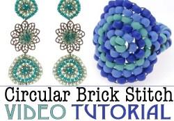 circular brick stitch video beadweaving tutorial