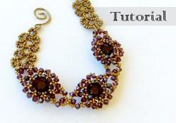 beaded bezel chaton bracelet tutorial