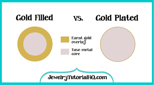 Gold filled vs gold plated jewelry. What's the difference?