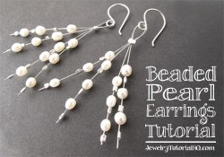 DIY Beaded Pearl Earrings Tutorial {Video}