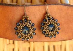 Beaded Rivoli Earring Tutorial {Video}