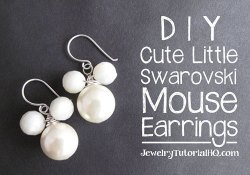 DIY Cute Swarovski Mouse Earrings {Video}