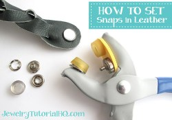 How to Set Snaps in Leather