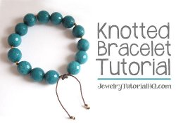 DIY Knotted Cord Bracelet Tutorial {Video}