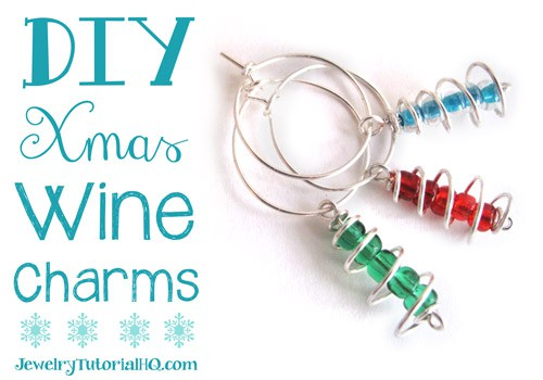 DIY Christmas Wine Charms / Earrings - Christmas Craft from JewelryTutorialHQ