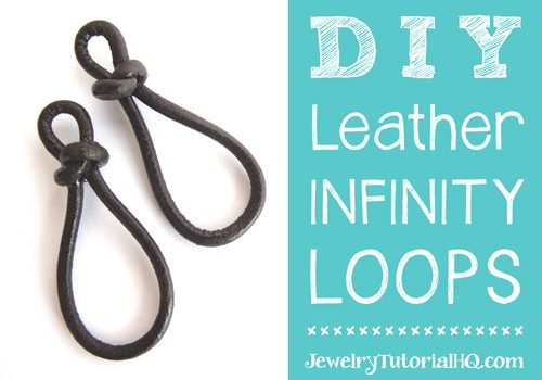 DIY leather infinity links / figure 8 links or earrings by JewelryTutorialHQ