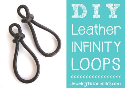 DIY leather infinity loops / figure 8 links or earrings by JewelryTutorialHQ
