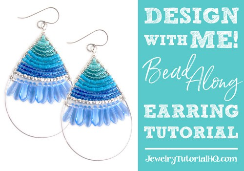 Design with Me! Beaded wire earring tutorial bead-along