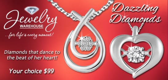 Dazzling Diamonds - Available in stores or online. http://www.jewelrywarehouse.com