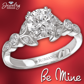 Be mine! Romance rings are available in stores or online. http://www.jewelrywarehouse.com