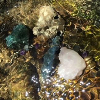 creek water magic stones crystals