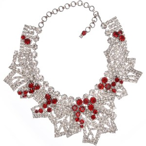 Jewels by Alan Anderson Holiday Frost Leaf Necklace