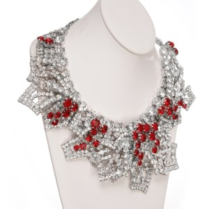 Jewels by Alan Anderson Jewels by Alan Anderson Holiday Frost Leaf Necklace