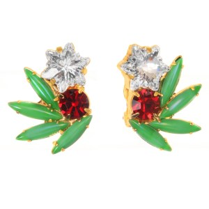 Jewels by Alan Anderson Jewels by Alan Anderson Holiday Spray Button Earrings