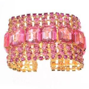 Alan Anderson Pink Crystal Flex Bracelet