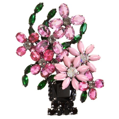 Alan Anderson Flower Basket Brooch