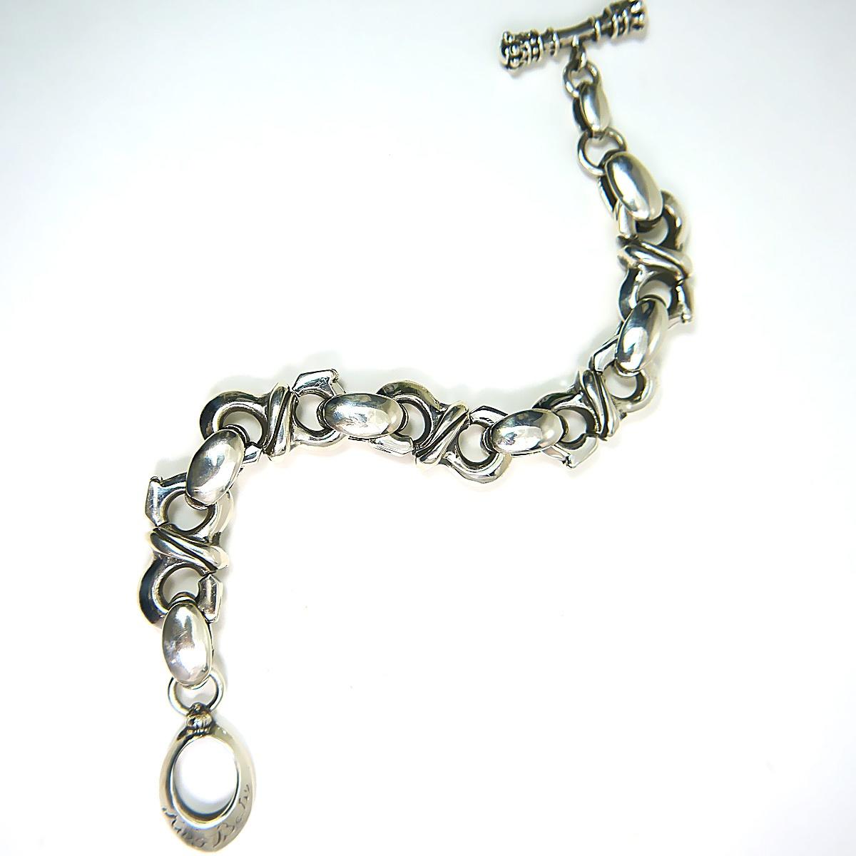 "King Baby S-Link Dragon Tail Bracelet in Sterling Silver 10"""