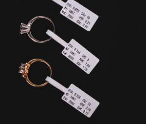 JewelTrace RIFD Jewelry Tags. Simple to view info with built in tech to provide data analytics and inventory management.