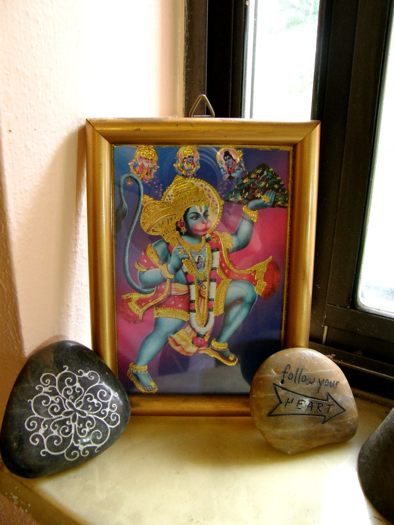 Altar with Hanuman, Servant of God