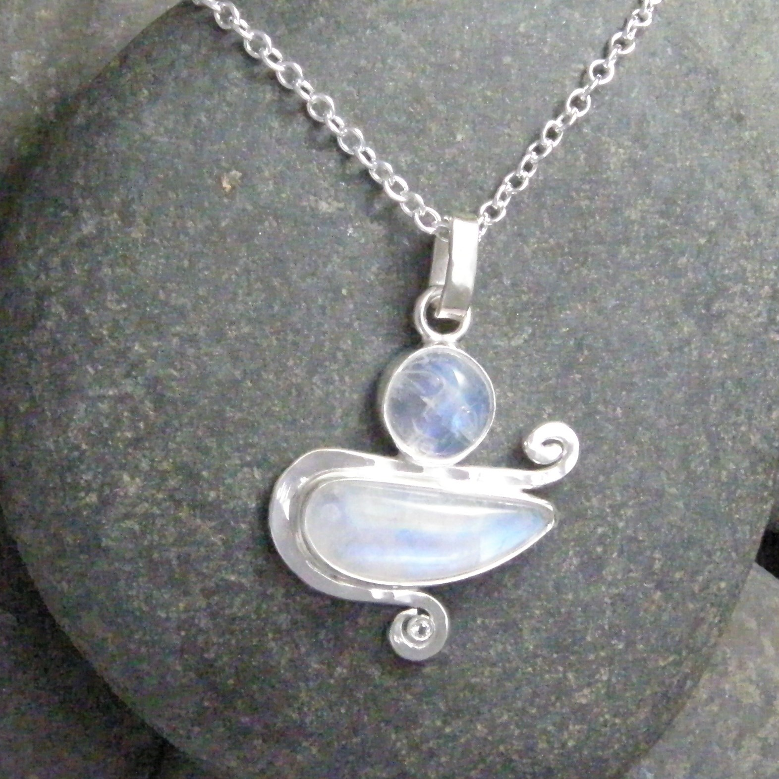 jewelry wrapped w pendant gold necklace ikhm stone fill listing moonstone moon il rainbow fullxfull