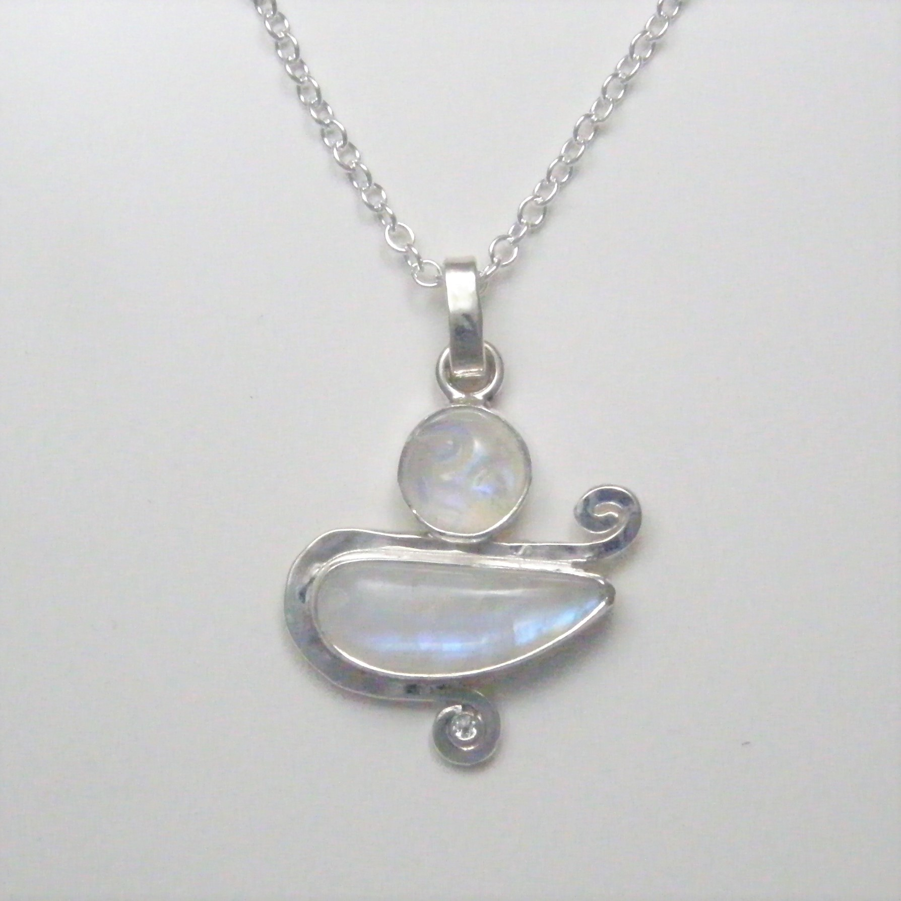 topaz necklace pendant cushion aquamarine white in phab detailmain main lrg halo sterling silver