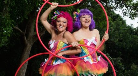 L-R The La La SisterZ, Jewels, left, and Lisa Hanssens, will be performing at the Spectrum Now Festival in the Domain, Sydney. 9th February 2016 Photo: Janie Barrett