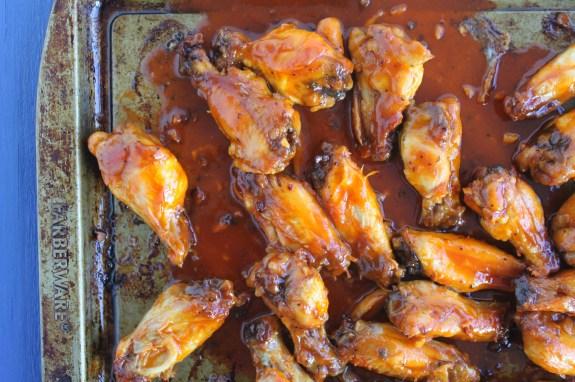 jewhungry kosher food baked honey sriracha hot chicken wings