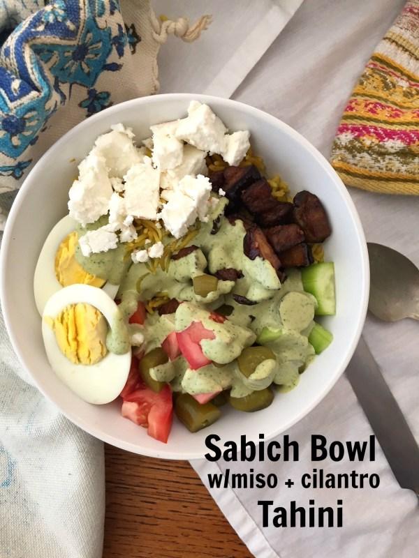 sabich bowl tahini kosher jewhungry blog