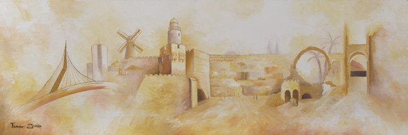 ציור ירושלים חדש וישן