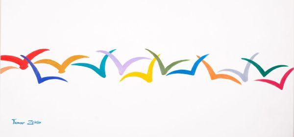 ציור ציפורים צבועניות