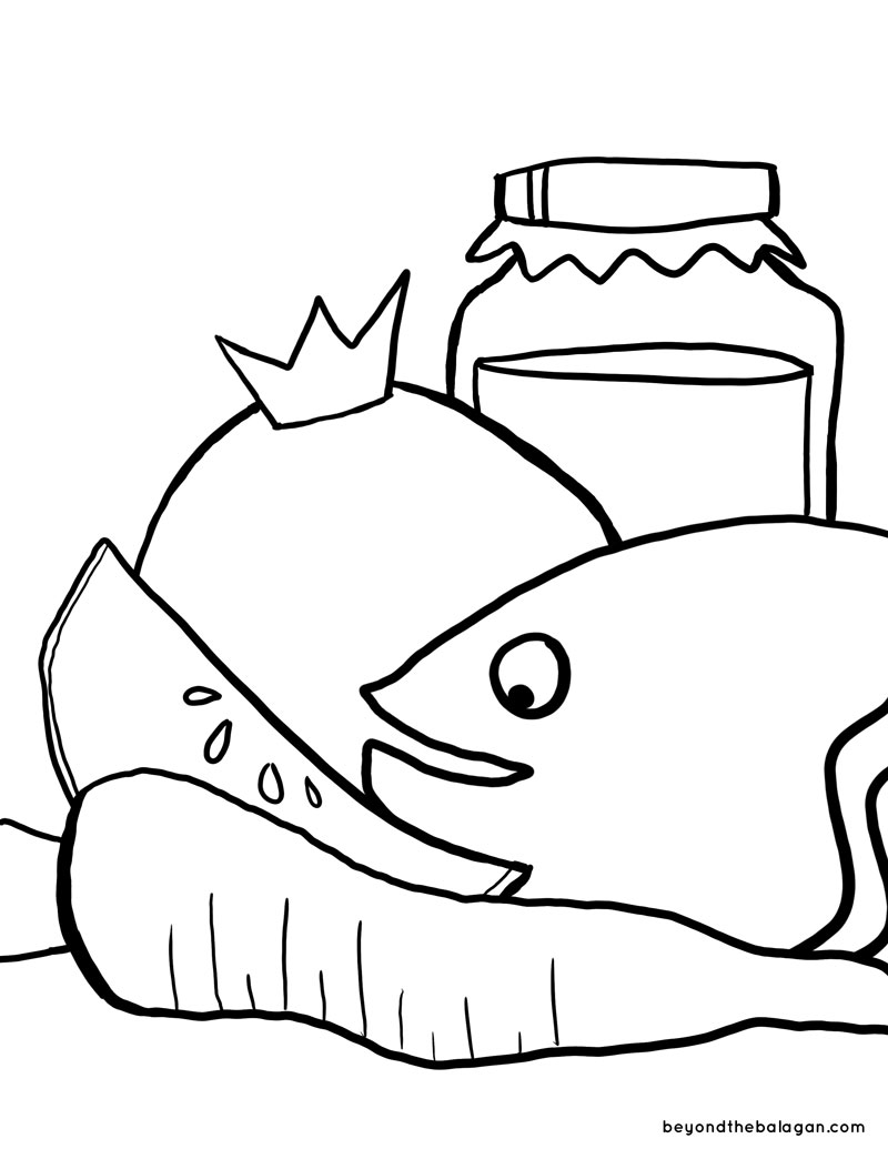 Rosh Hashanah Coloring Page Jewish Moms Crafters