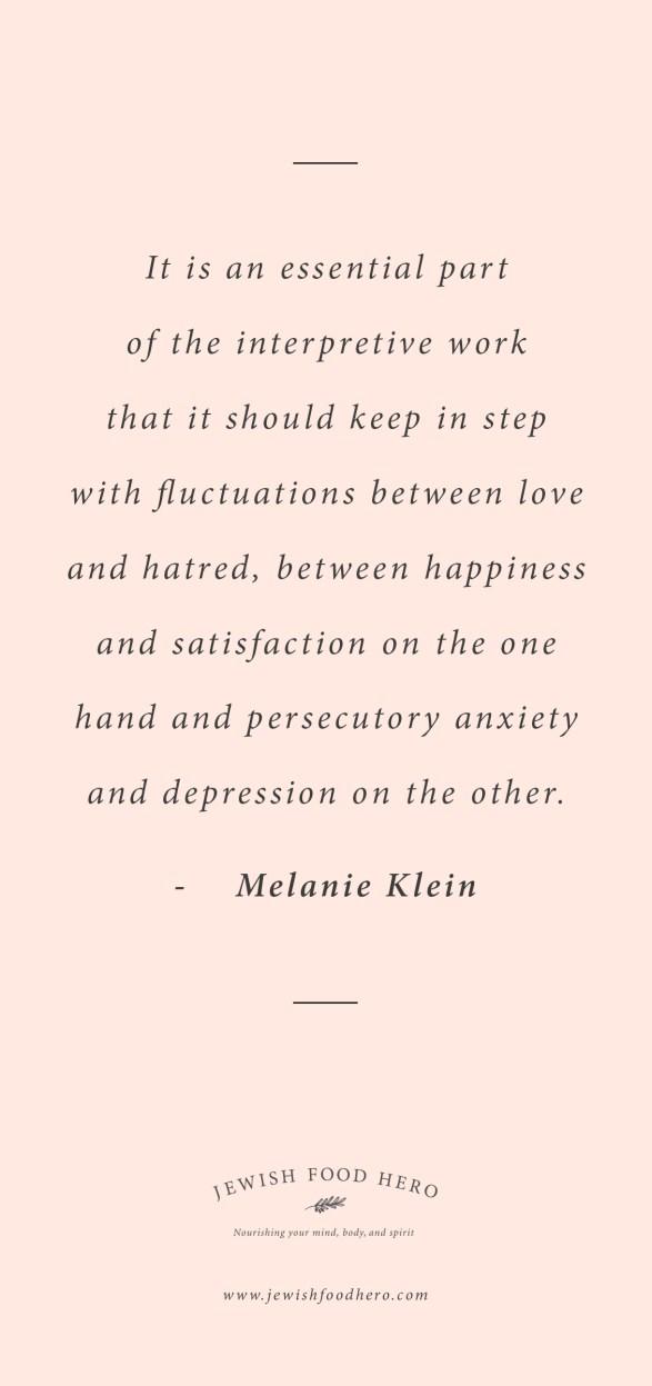 Melanie Klein Quote