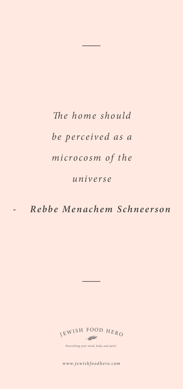 Comforting Jewish Quotes on Home - Rebbe Menachem Schneerson, Gray