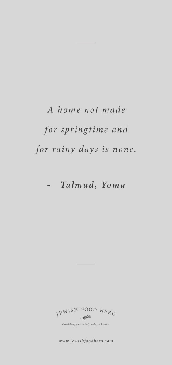 Comforting Jewish Quotes on Home - Talmud Quote, Grey