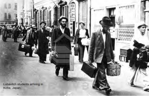 The Talmidim arriving in Kobe Japan