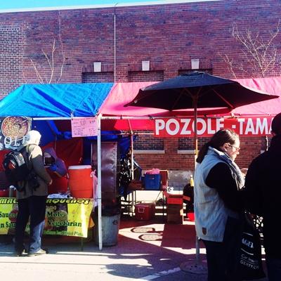 Pozole Booth at Maxwell St. Market - Tamar Alexia Fleishman, Esq.