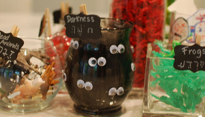 Passover Table Decor with the Ten Plagues