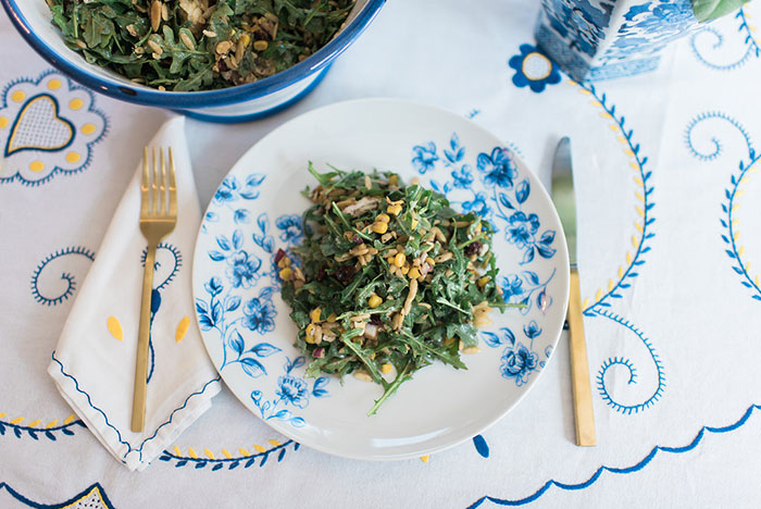 Arugula Orzo Salad with Goat Cheese