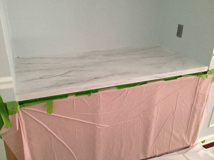 Faux marble countertop diy for Kosher countertops